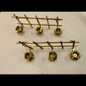 Brass Candle Holders Set